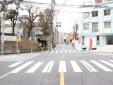 ⑤東京アナウンスアカデミーのある交差点もそのまま直進ください。